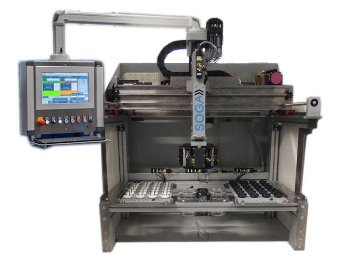 Stent Elektro polieren Automation Handling